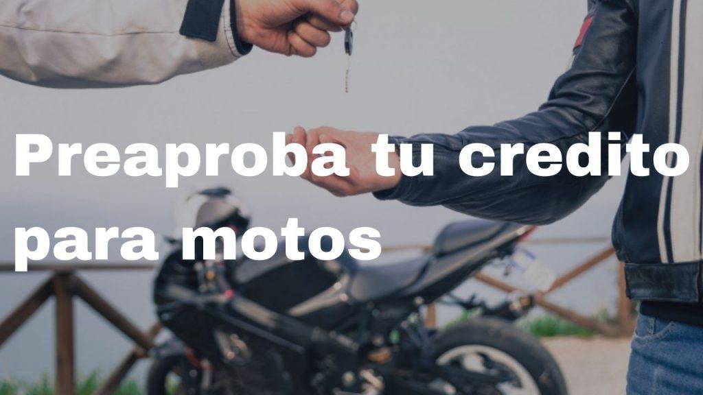 preaprobar credito motos